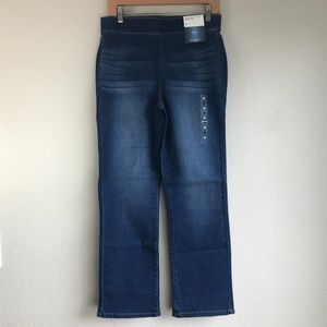 NY & Company Soho Jeans High Waist Pull On Flare